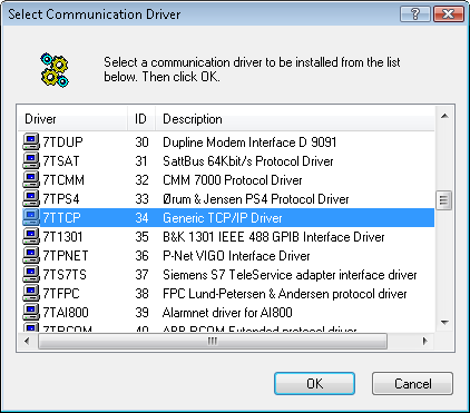 Activating the Generic TCP/IP driver
